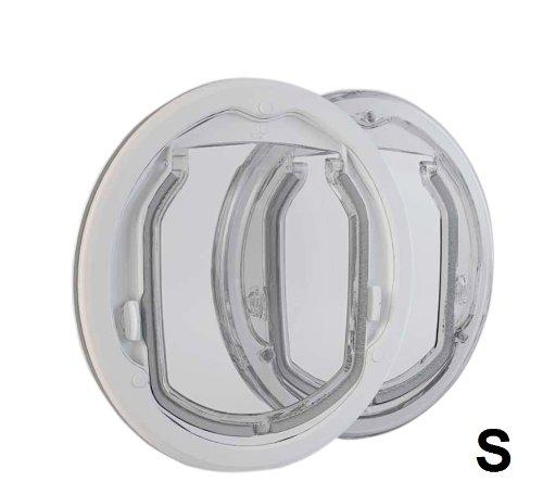 PC2-C-ProKatzenklappe, Hundeklappe für den Einbau in Glas, Holz, Metall