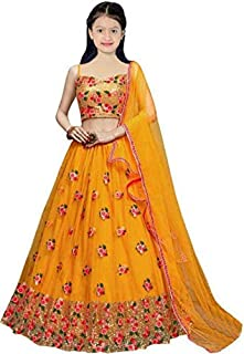 Sarth Fashion KIDS SEMI SATIN HEAVY EMBROIDERED TO FENCY TRADITIONAL GHAGHRA CHOLI FOR GIRL'S