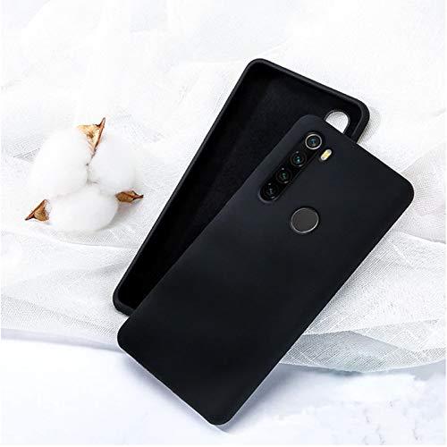 Capa Silicone Macio Xiaomi Redmi Note 8 Forro Interno - Preto