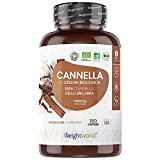 Bio Cannella di Ceylon 1000mg ad Alto Dosaggio - 180 Capsule di Cannella in Polvere Vegan (Fornitura per 3 Mesi) - Fonte Naturale di Vitamina A, Vitamina K, Potassio - Cannella Capsule Senza Glutine