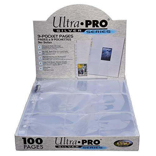 Ultra pro 9-Pocket Carta Páginas Álbum Hojas Videojuegos Magic Wow Yugioh 10