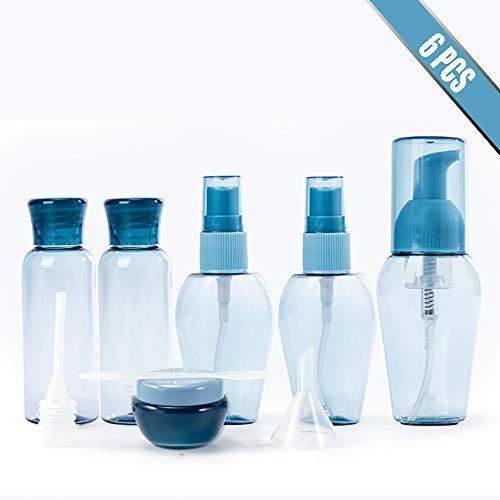 Flacons et Pots de Voyage, Plastique Rechargeable de Lotion avec Bouchon de Pression pour Cosmétiques Lotion Shampoing Gel Douche Crème