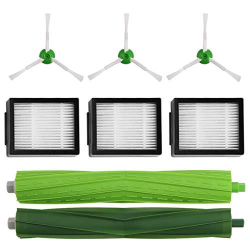 Mirtux Pack d'accessoires pour Roomba E5/i7 Kit de remplacement complet pour E5/E6/i7/i7+. Pièces de rechange, brosses latérales, filtres, rouleaux ex