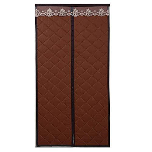 Rails Braun Türvorhang Wärmeschutz 100x220cm/39.4x86.7in Kaeltevorhang Tuer für Terrassentüren