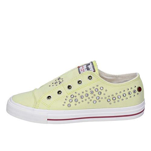 Wrangler Sneakers Damen Segeltuch gelb 35 EU