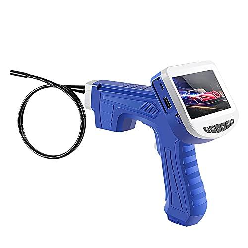 Cámara de inspección portátil Endoscopio Industrial con Pantalla de 4,3 Pulgadas de 8 mm Cámara Digital de IP HD de la Lente de 8 mm para la inspección de la tubería,1M