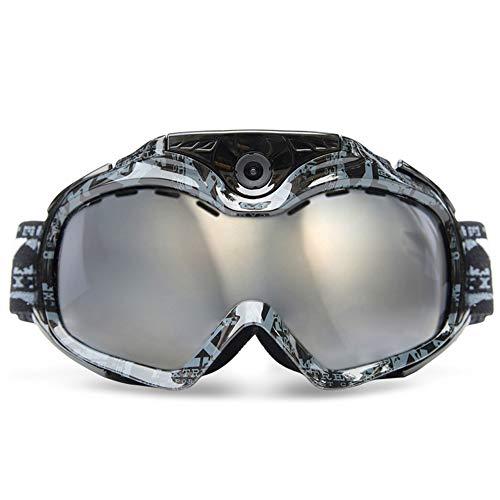 TBYGG HD Video Snowboard Sonnenbrille,HD-Sportkamera,720P-Kamera-Skibrille142 ° Weitwinkel,USB-Kabel,TF-Karte,zweifarbiger Anti-Fog-Spiegel,Echtzeit-Videoüberwachung,Goggles,Full Hd Dvr Recorder