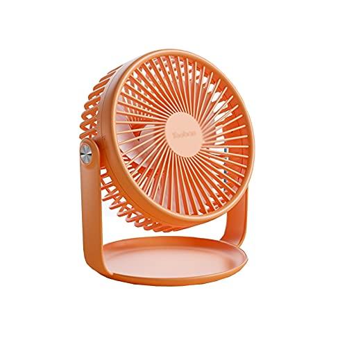 GADHNN Mini Mini Ventilador Eléctrico USB, Escritorio Silencioso, Carga, Adecuado para Dormitorios, Oficina, Práctico Y Hermoso, Tamaño Es De Aproximadamente 20.2 * 18.7 * 14 Cm (Color : Orange)