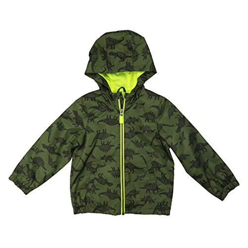 Carter's Baby Boys' Hooded Lightweight Windbreaker Jacket Coat, Green Dinosaurs, 18MO