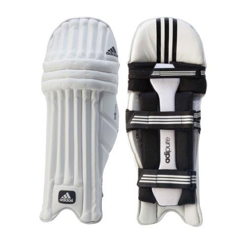 adidas Adipure Cricket-Schläger-Pads/Beinschoner, groß, für Rechtshänder