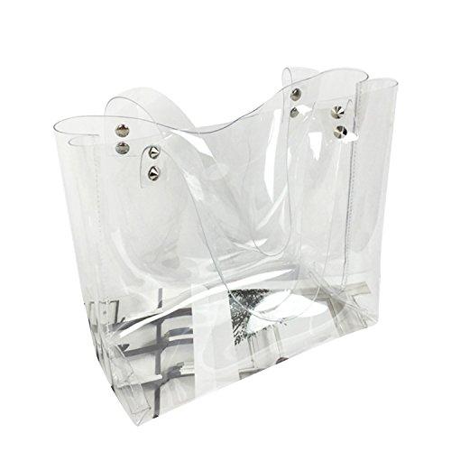NOTAG Handtasche Damen, Transparent PVC Große Shopper Wasserdicht Strandtasche