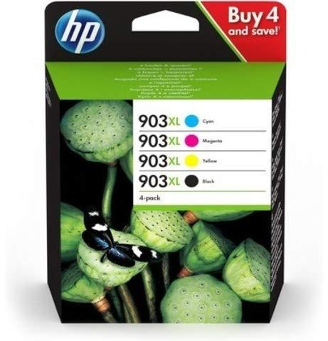 HP Tintenpatrone, 903XL, 3HZ51AE, original, cyan/magenta/gelb/schwarz, 825 Seiten (4 Stück), Sie erhalten 1 Packung á 4 Stück