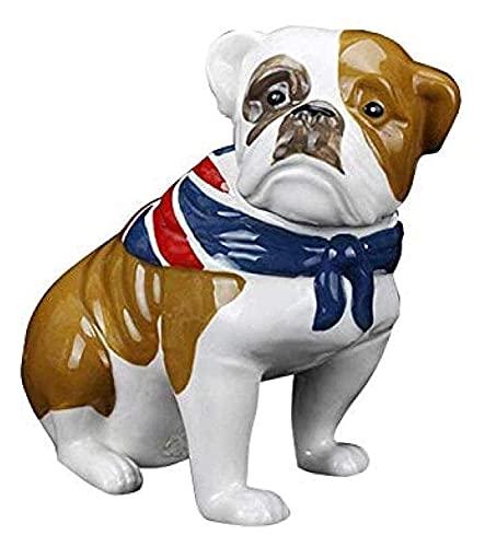 LXRZLS Escultura de Escritorio Escultura de cerámica Escultura de Perros Ornamentos Estatuas de Animales Accesorios para el hogar Decoración de Oficina Regalos Artesanía Figuras Arte