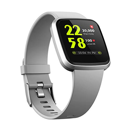 V12 HRV Heart Rate Monitor Blood Oxygen Spo2 Smart Watch with Germany O2 Sensor Sleep Tracker Health Watch IP68 Waterproof Fitness Activity Tracker Exercise Smartwatch for Android iOS (Grey)