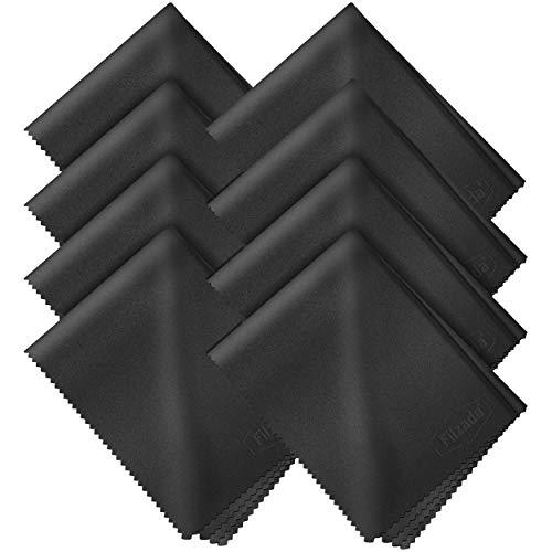 Filzada ® 8x Brillenputztuch Microfaser 20 x 20 cm - Fusselfreie Brillenputztücher Mikrofaser In Optikerqualität - Display Reinigungstücher/Objektiv Tuch für Bildschirme, Kamera Objektive