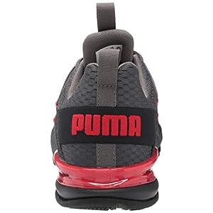 PUMA Men's Axelion Sleek Cross-Trainer, Castlerock-high Risk Red Black, 9.5