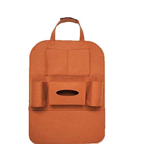 Auto-Rücksitz Tasche Veranstalter Lagerung hängt Filztasche Sitzrückentasche Schützer Startseite Auto-Nacht Boxsack Box Taschentücher 1pc Multi Brown
