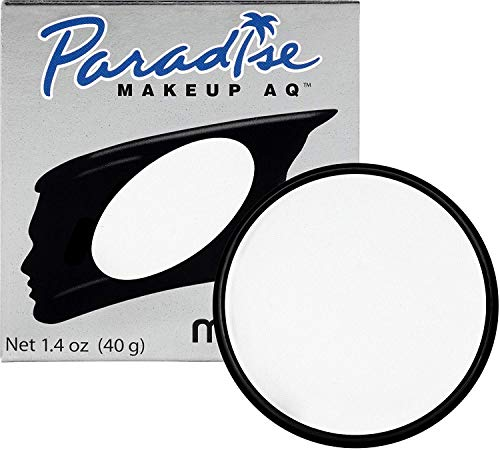 Mehron Makeup Paradise Makeup AQ Face & Body Paint (1.4 oz) (White)