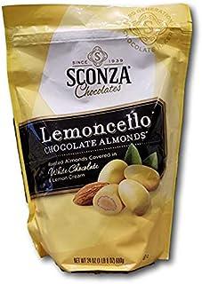 Sconza large Pouch Confections Lemoncello Almonds Zipper Pouch, 24 ounce (2 Packs)