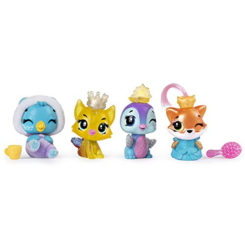 HATCHIMALS 6047212 CollEGGtibles, Season 6, Royal Multipack with 4 HATCHIMALS and Accessories, for Kids Aged 5 and Up, Multicolour