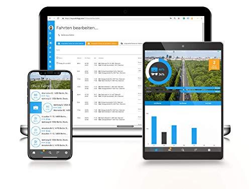 AutoLogg - Elektronisches Fahrtenbuch - Finanzamtkonform; Selbst ansteckbar - GPS gestützte OBD2-Lösung; Alles Inklusive: Box, App & Datentransfer in EU für 1 Jahr; Geeignet für Elektrofahrzeuge