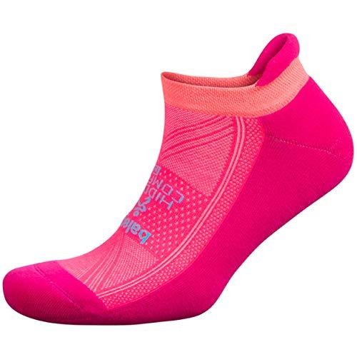 Balega Hidden Comfort No Show Socks for Men and Women (1 Pair), Electric Pink/Sherbet Pink, Large