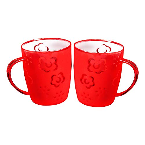 Demarkt Coffee Cups Perfect for Coffee, Tea and Water, 400 ml, Pack of 2 Plastic Cups
