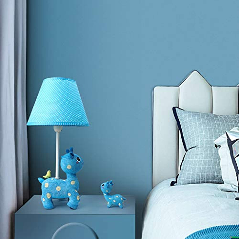 WZJ-TISCHLEUCHTE Schlafzimmer-Nachttischlampe Romantisches warmes Kinderzimmer Nette Rotwild-Karikatur-Tischlampe (Farbe   Blau)