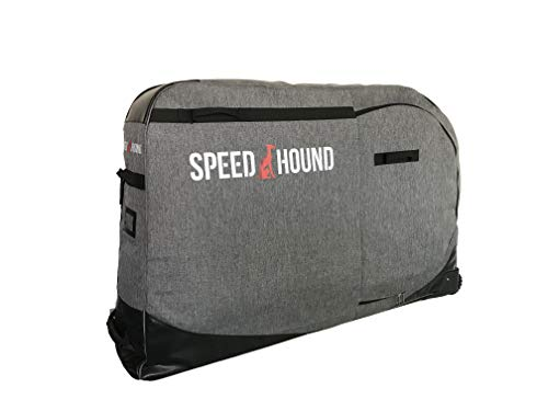 Speed Hound Freedom Padded Road and Mountain Bike Travel Bag Case for Airline (Gray)
