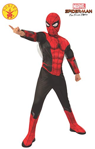 "Rubie's - Costume da Spider-Man, dal Film ""Far from Home"", per Bambini, con Licenza Ufficiale"