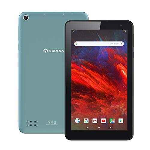 HAOQIN H7 Tablet 7 Inch Android 9.0 Tablets - 16GB ROM Quad Core, IPS HD Display, WIFI, Bluetooth, Dual Camera Google Certified (Blue)