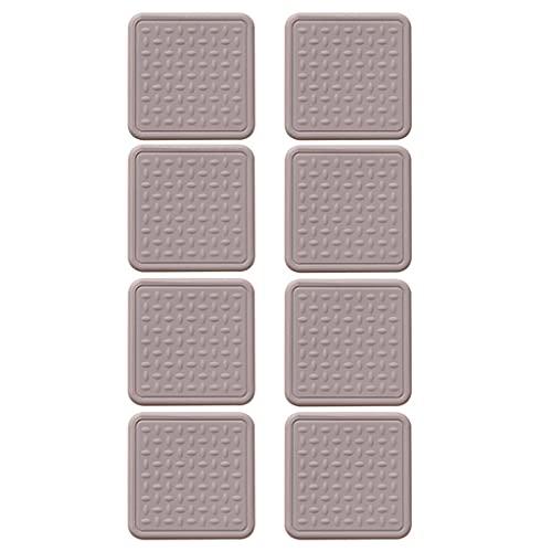 LIZHILIAN Protectores de piso de silicona Pies de muebles antideslizante Mat espesar silenciosa silla de movimiento almohadillas resistente al desgaste de protección Mat