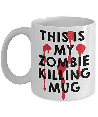 Taza de café divertida tazas personalizadas taza de impresión de 11 onzas amigo cumpleaños familia regalo-walking dead 02