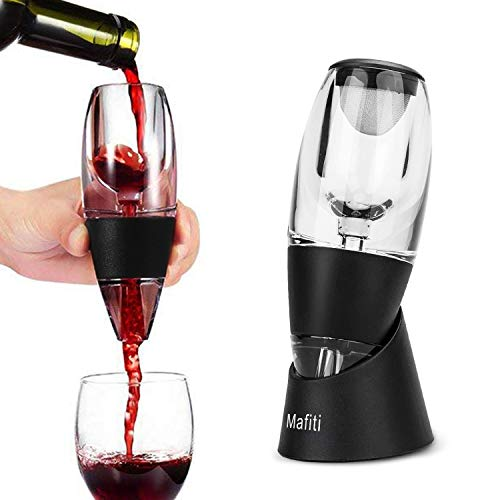 Mafiti Wine Aerator Decanter with Base for Red Wine for Birthday, Friendship, Wine Gift,Home use and Party