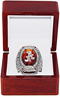 UNIVERSITY OF ALABAMA CRIMSON TIDE (Amari Cooper) 2014 SEC CHAMPIONS College Football Playoffs Collectible High-Quality Replica NCAA Silver Championship Ring with Cherrywood Display Box