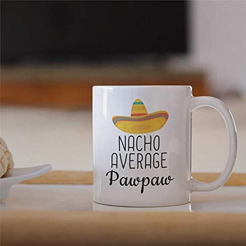 Pawpaw Gifts Nacho - Taza de café con forma de pata de pawpaw para abuelo, regalo para el día del padre de Pawpaw de 11 oz divertida taza de café de cerámica bj177
