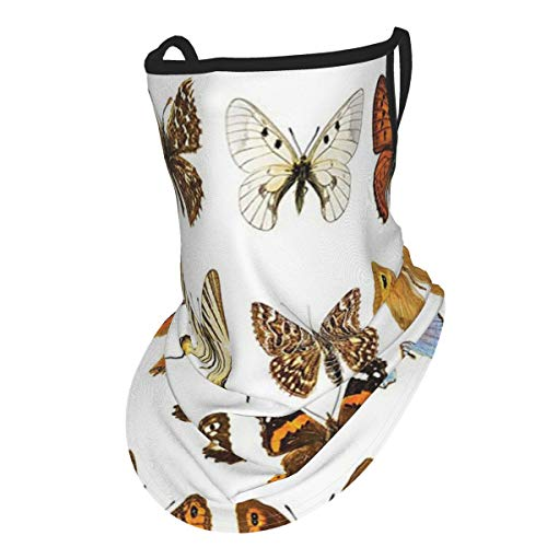 Butterflies Decorations Butterfly Miracle Wings Joy Freedom Spiritual Feminine Divine Sign Concept Work Multiear Hangers Uv Protection Neck Gaiter Scarf, Outdoor Headband For Fishing Cycling Hiking