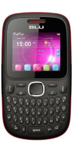 BLU Q170T Samba TV Unlocked Dual SIM Quad-Band GSM Phone (Black/Red)