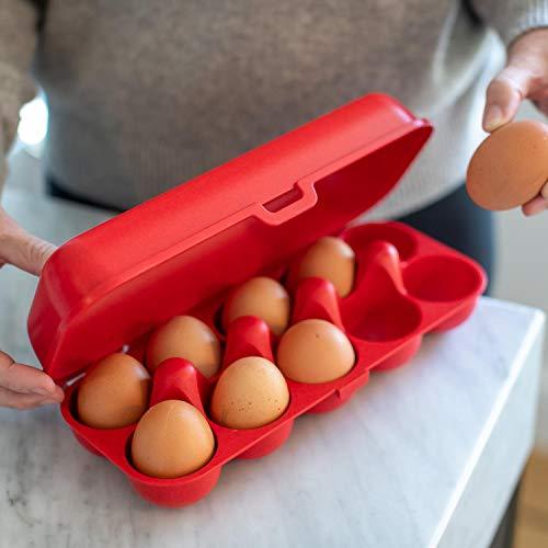EGGS TO GO Eierbox, koziol, organic red