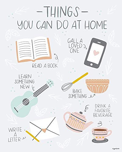 Posterazzi PDXKB1351SMALL Things to Do at Home Kyra Brown Poster Print, 18 x 24, Multicolor