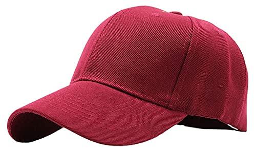 Lzpzz 20 Estilos Unisex Llano en Blanco Color de Béisbol Sólido Casilla Curved Sun Visor Sand Snapback Snapback Hat para Senderismo Deportes al Aire Libre (Color : WR)