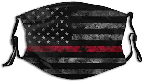 Thin Red Line Flag Firefighter Face Mask Fashion Dustproof Scarf Breathable Reusable Adjustable product image