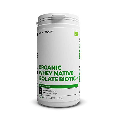 Nutrimuscle Proteine ??del siero di latte isolate 100% puro biologico in polvere (87%) - Latte austriaco - Biologico - Costruzione muscolare - Bodybuilding e fitness (500 g)