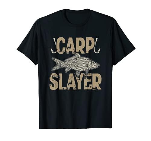 Carp Slayer Funny Carp Fishing Design Gift T-Shirt