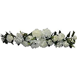 35″ Arch Swag Artificial Roses Peony Silk Flowers Wedding Hanging Backdrop Fake