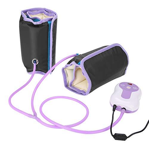 Elektrisch Beine Massagegerät, Fußmassagegerät, Kompressionsmassage mit 9 Massagemodi für Waden, Füße und Oberschenkel, Schwellungen und müde Beine(Lila)