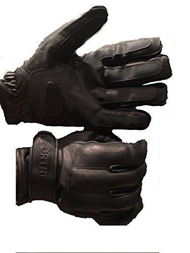 ESG Guantes Tácticos de Cuero Auténtico con Kevlar y Plomo - Material para Portero de Seguridad - Grande