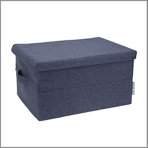 Bigso Box of Sweden große Aufbewahrungsbox mit Deckel und Griff – Schrankbox aus Polyester und...