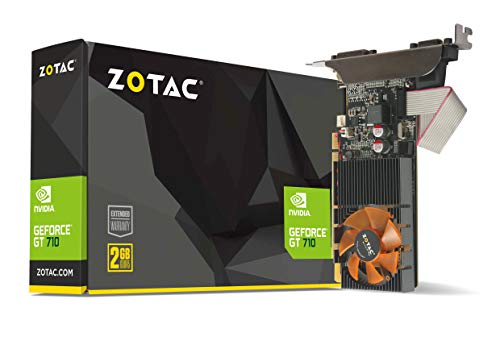 Zotac GeForce GT 710 2GB DDR3 FanSink Graphics Card with GeForce Experience