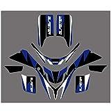 Motocross Bicicleta Pegatinas Fondo Negro gráfico Azul de la Etiqueta engomada Kit for Yamaha Blaster 200 YFS YFS200 1998 1999 2000 2001 2002 2003-2006